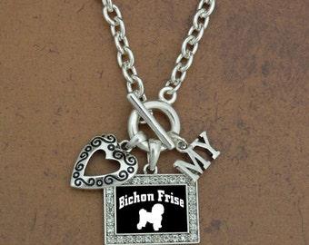 Heart My Bichon Frise Necklace
