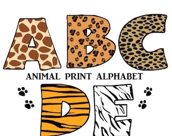 Zebra alphabet | Etsy