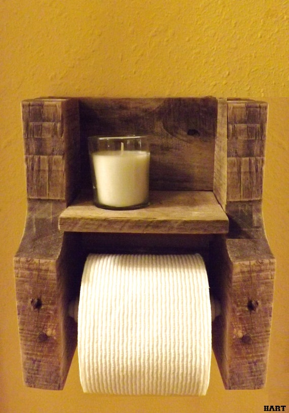 Reclaimed Wood Toilet Paper Holder W By Wineanddesignbyjhart