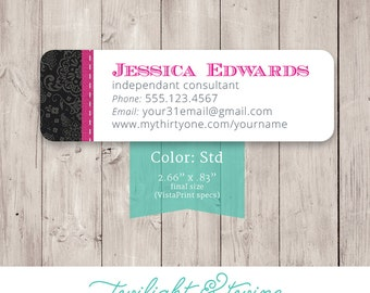 Thirty-one Catalog Label Sticker - Custom PDF, Printable, Template ( Consultant, Thirty One, 31, Vista Print )