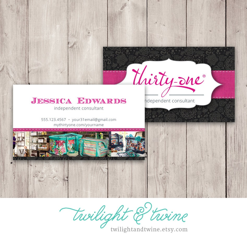 Thirty one Business Card Template Black Custom PDF