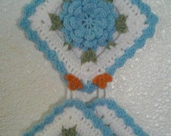 Crochet Miss Rosey Owl Potholder Holder Pattern Only