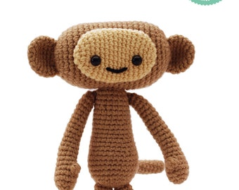 Crochet Amigurumi Monkey - Crochet Pattern, Monkey plush