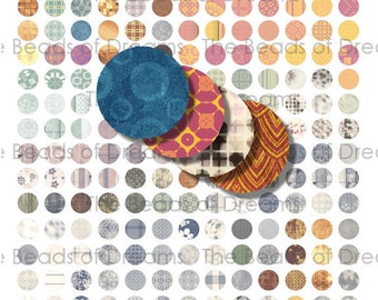 234 12mm circle round mixed color - Printable digital collage sheet - pdf png jpeg - INSTANT DOWNLOAD (cs0277)