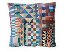 Aztec Woven Geometric Pattern Fabric Cushion Throw Pillow Cover 16x16 or 18x18 inches