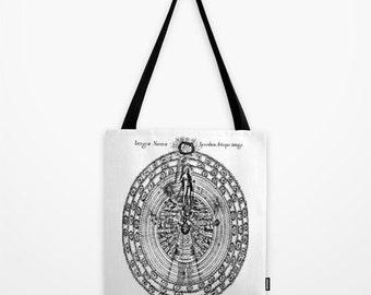Alchemy Tote Bag - Esoteric Print Tote Bag - Book Bag - Eco-friendly Bag - Shopping Bag - Graphic Tote