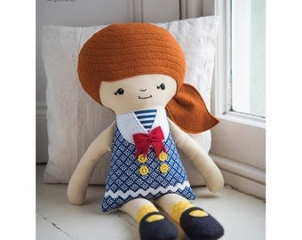 Sweet Sailor Rag Doll Sewing Pattern Download (803949)