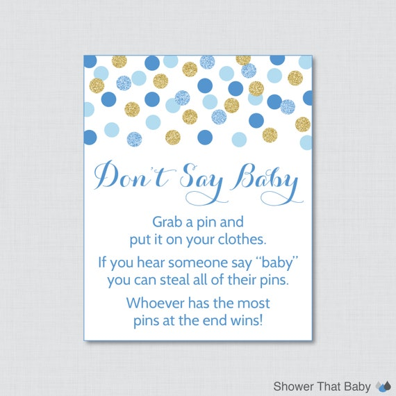 say baby sign diaper pin clothes pin game instant download 0008 b