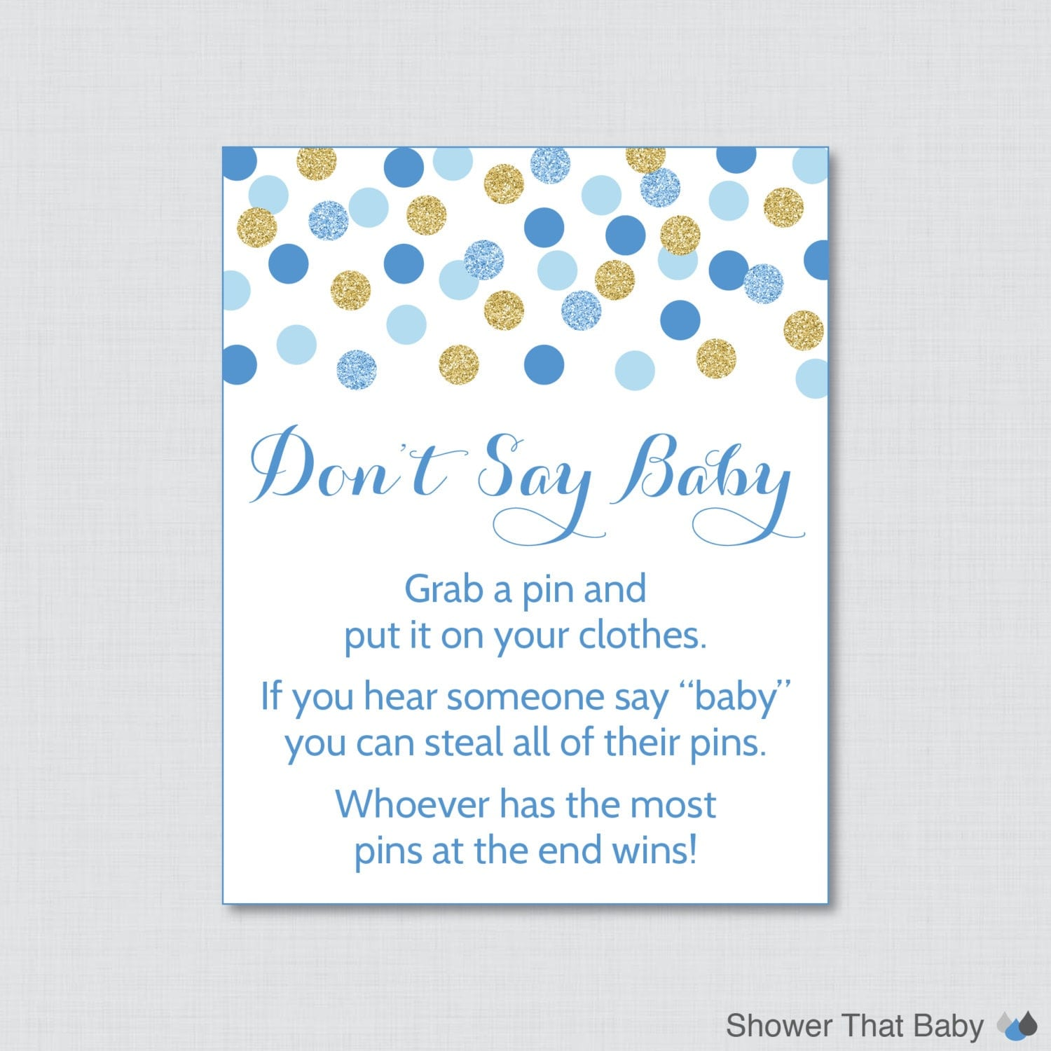 Smart image intended for don t say baby free printable