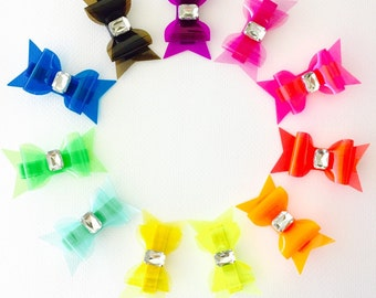 Rhinestone Hair Clips - Rhinestone Headbands, Jelly Bows, Hair Clip Set, Hair Bow Set, Headband Set, Summer hair bows 3 WEEK TURNAROUND