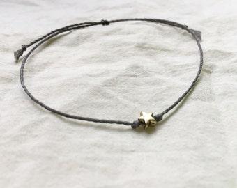 Star Charm Bracelet, Star Thread Bracelet, Star String Bracelet