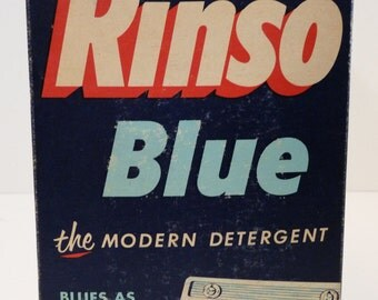 RARE Unopened Rinso Blue the Modern Detergent - Regular Size - Ruth Ellis Box