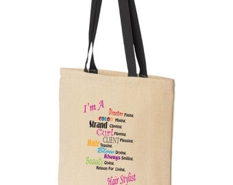 Fast Shipping! Great Reviews! Hair Stylist Tote Bag, cosmetologist, beautician, cosmetologist, hairstylist, hairdresser, tonsorial artist