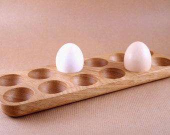 Wooden Egg Holder. Oak wood egg holder. Easter egg holder. Easter gift.