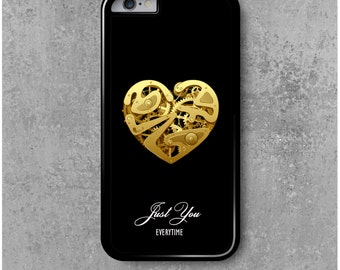 """IPhone 6 Heart Clock Love Valentin """" Just You """" + Free Worldwide Shipping"""