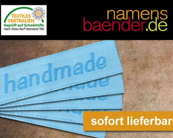 5 Web labels 'Hand Made' 10 x 45 mm