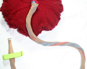 Pattern: Knitted Placenta and Umbilical Cord - Hand-Made Reproductive Anatomy