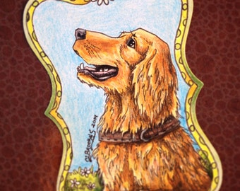 Digby the Dog - Pushing Daisies Sketch Card
