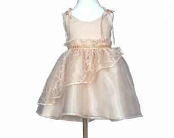 Girls Satin and Lace Dress