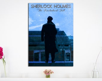 Sherlock Holmes - The Reichenbach Fall - Art Print - (Available In Many Sizes)