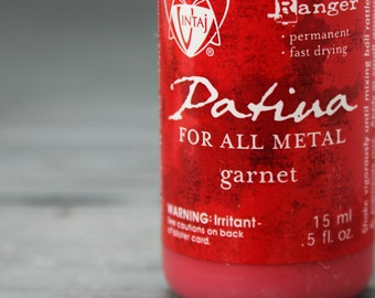 Vintaj Garnet, Red patina,  vintaj paints, vintaj patinas, patina paints, Metal Patina, Red  patina, INV0010