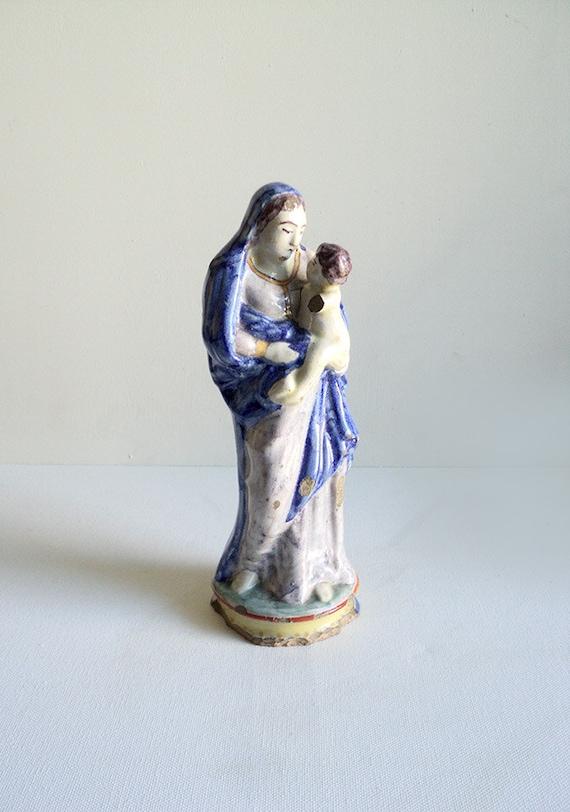 Statue de la vierge marie et l 39 enfant j sus statuette for Statue vierge marie pour exterieur