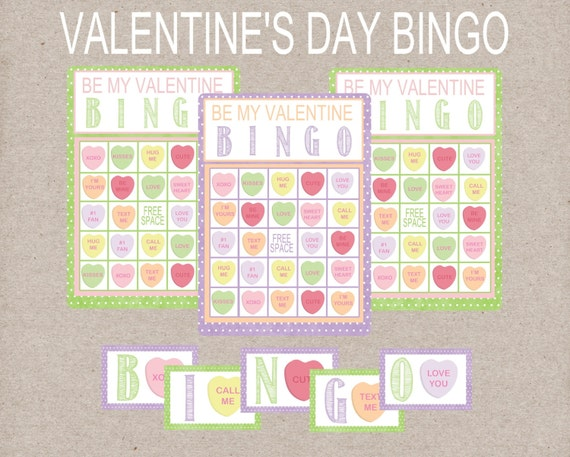 Be My Valentine BINGO Game. Conversation Heart BINGO. Includes