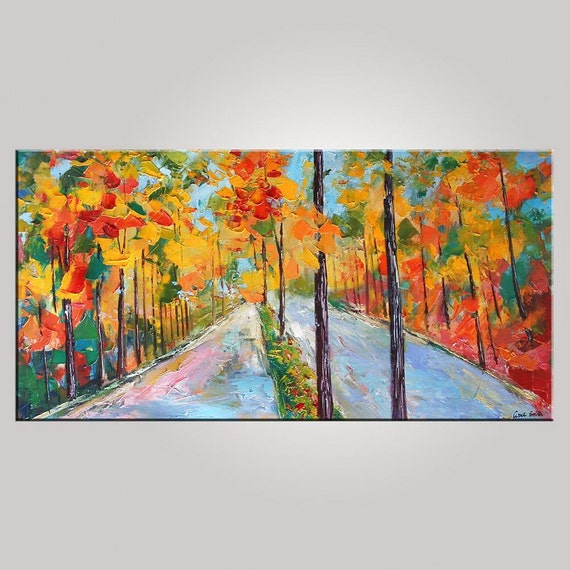 Original Painting Extra Large Painting Landscape By Topfineart