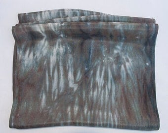 Silk Scarf - Hand Dyed (Charcoal Gray)