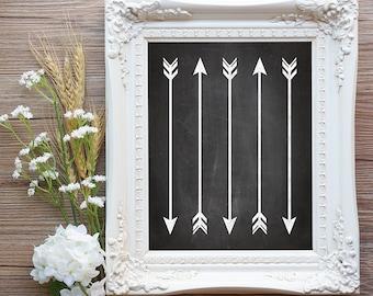 75% OFF SALE - Decorative Arrows - 8x10 Printable Art, Nursery Art, Nursery Decor, Wall Arrows, Chalkboard, Blackboard, Wall Art