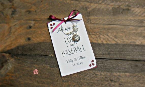 Baseball Wedding Gifts: Baseball Wedding Favors Wine Charm Favors For By