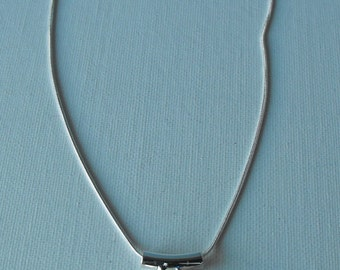 Swarovski and Sterling Silver Necklace  - Minimalist (BD-865)