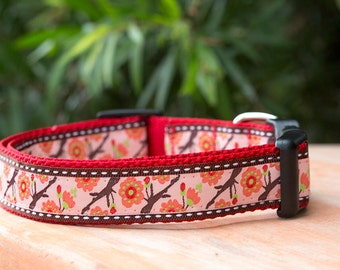 Dog Collar / Cherry Blossoms Dog Collar
