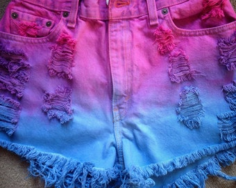 Custom Multi-Colored High Waisted Shorts