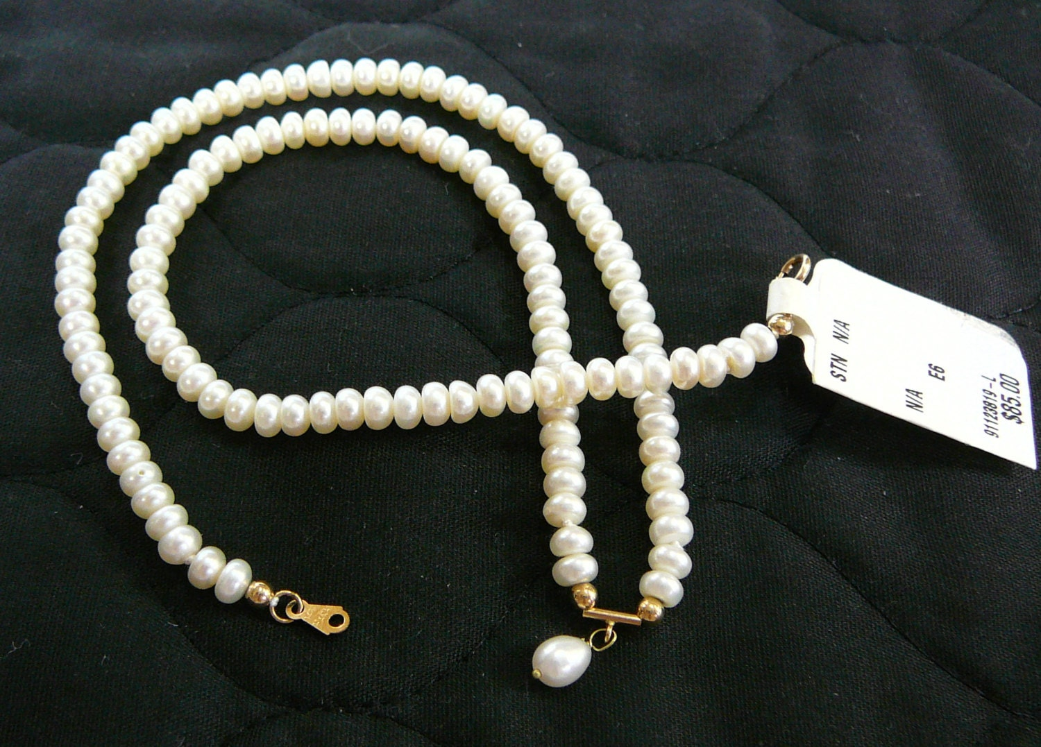 vintage 14k gold real pearl necklace yellow gold clasp