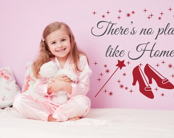 Ruby Slippers Decal Oz Wall Decal Wizard Of Oz Decal Dorothy Decal There's No Place Like Home Oz Wall Decor