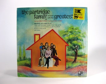 Vintage Partridge Family at Home with their Greatest LP Record 33 RPM. Bell Records 1107