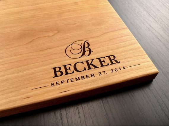 Wedding Gift Cutting Board: Engraved Cutting Board Personalized Wedding Gift Bridal