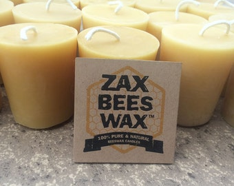100% Pure & Natural Beeswax Votive Candles | Bulk 20 Pack