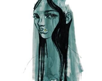 Daisy - A3 Giclee Print