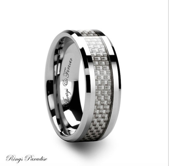 4mm 12mm s tungsten wedding band white carbon by