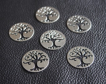 Stainless steel Floating Locket Window Plate, Hollow Family Tree, Floating charms, Dia 22mm Fit for 30mm floating locket