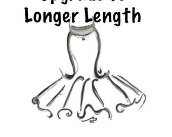 Add Longer Tutu Length Add-on Upgrade for your tutu order