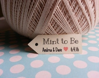 25 Mint to Be Favor Tags, Custom Mint to Be Favor Tags, Mint to Be Tags