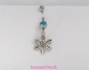 Christmas belly button ring , Navel ring, Belly button Jewelry, Belly button piercing,