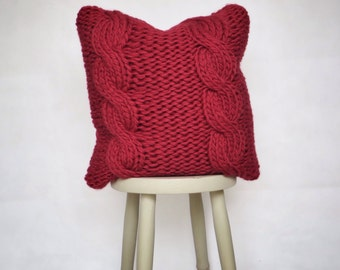 SALE: Chunky Knit Cushion Cable Scandi Chunky Cable Knit Pillow
