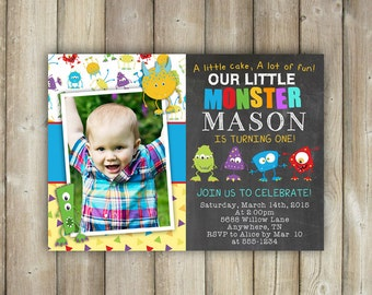 Wild One Birthday Invitation Boy First Birthday Invite - Digital first birthday invitation