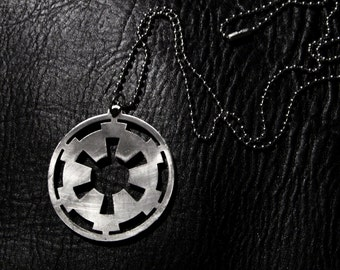 Cog - Galactic Empire of Star Wars, Imperial stainless steel necklace