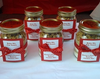 Reese's Pieces Cookie Mix Jar, DIY, Home Bake, Peanut Butter, Biscuit, Gift