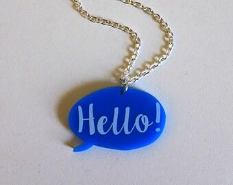 Hello! Speech bubble necklace <3
